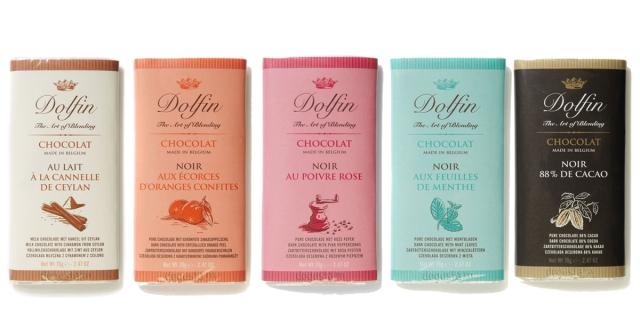 Chocolates belgas Dolfin